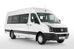 Crafter white front perspective view