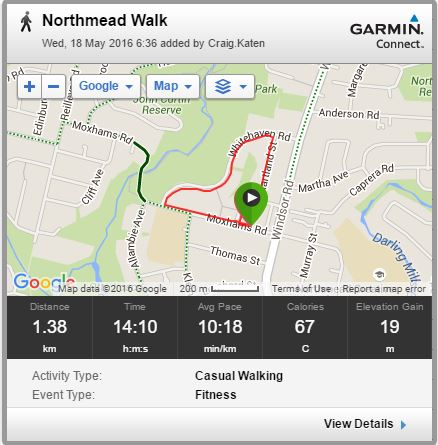 Daily walk with Roxy and Garmin