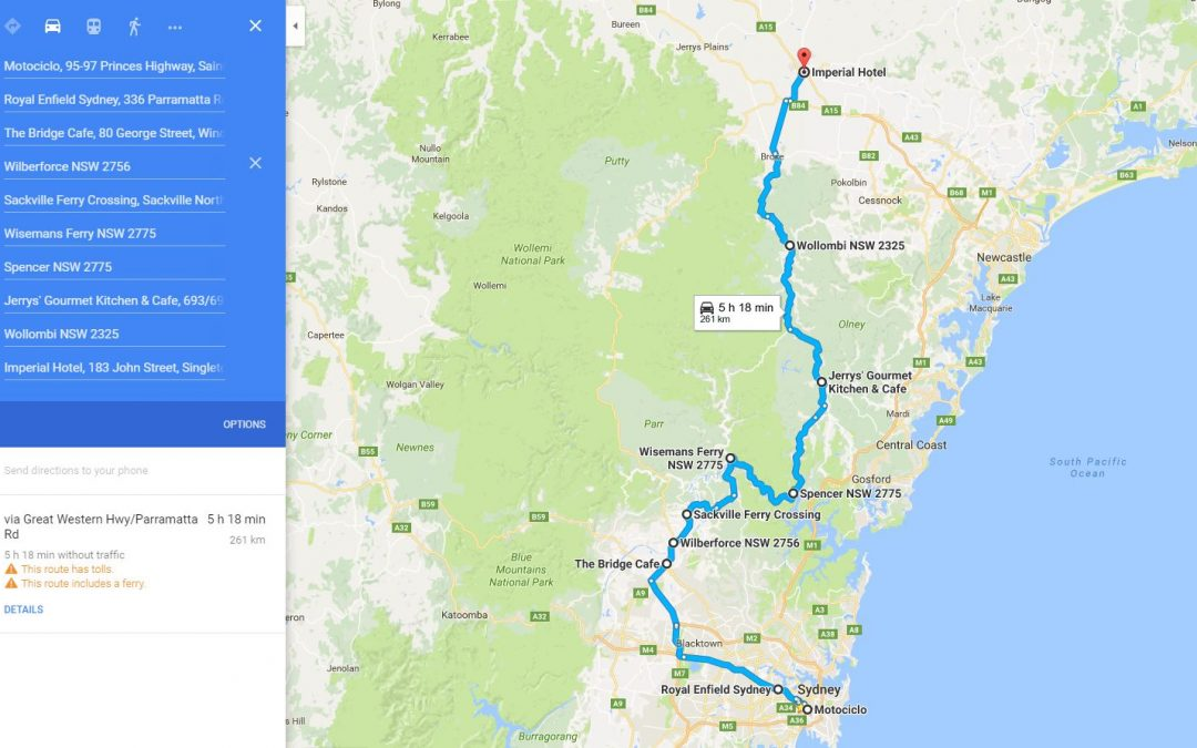 Royal Enfield Club of Australia –  Hunter Ride July 2016